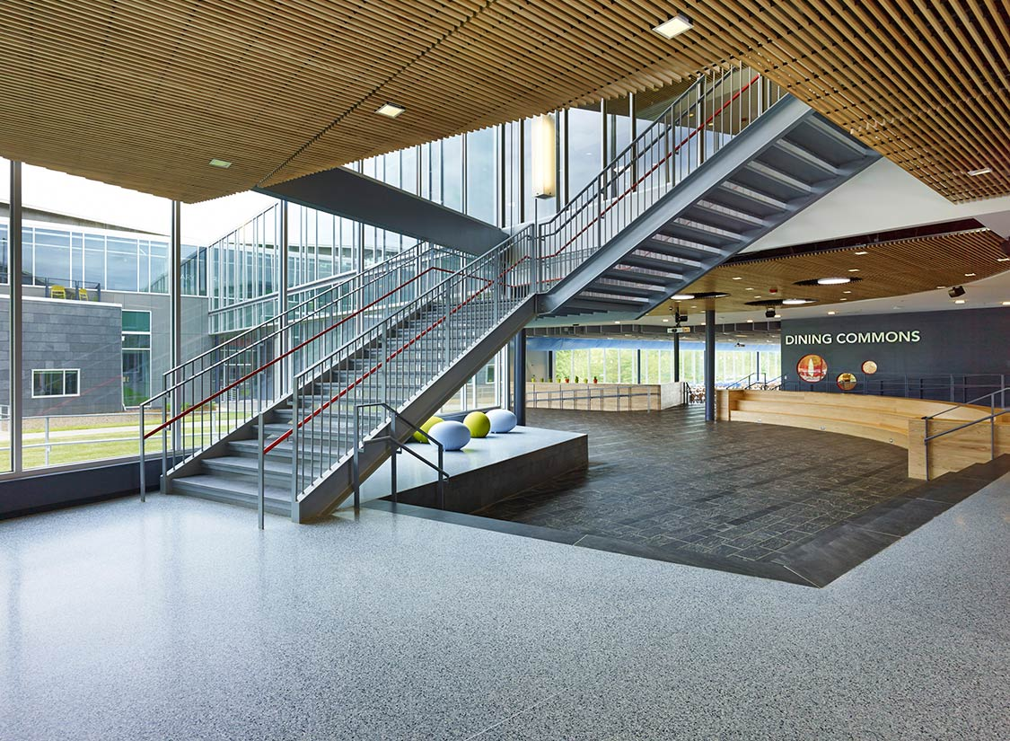 elementary buckingham county primary schools woodson carter complex education architecture vmdo archdaily stair facility architects educational karchmer alan projects architizer