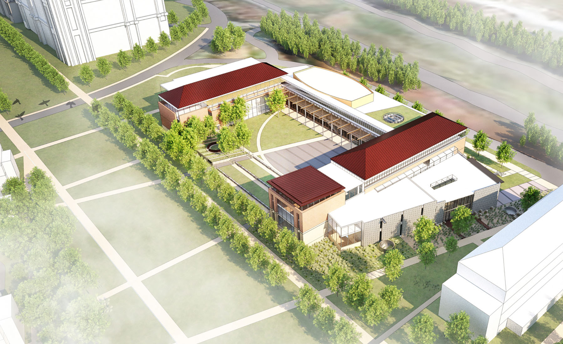 The new 162,000 SF School of Engineering and Computational Sciences will serve as the basis of a new Innovation Campus for Liberty University that supports dynamic, interactive, and hands-on learning opportunities within a collaborative environment.