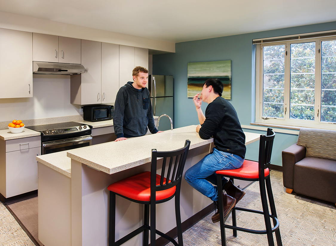 Meanwhile, a series of new apartments create attractive living options for students and residence life staff, providing the university community with a variety of living options not available elsewhere on campus.