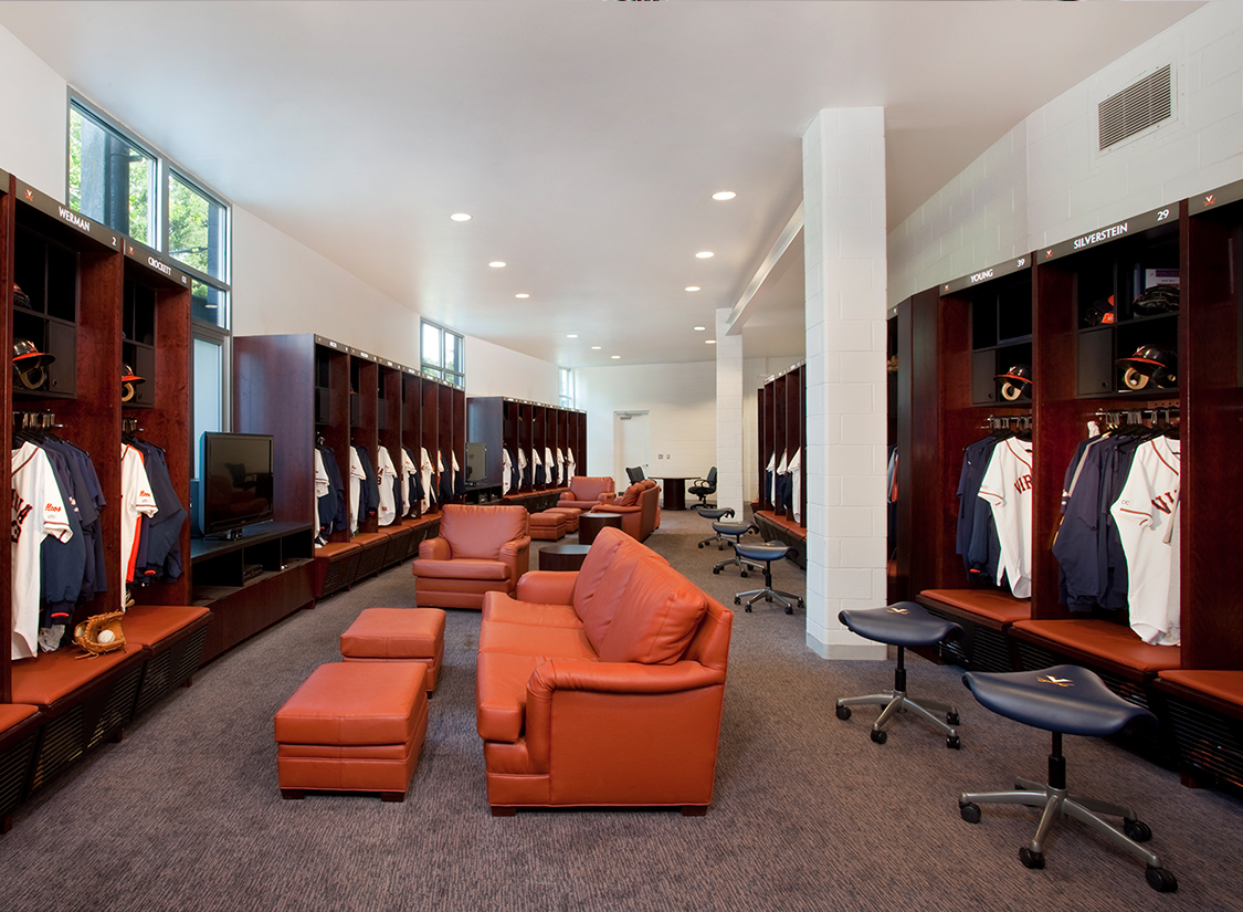 University Of Virginia Baseball Stadium At Davenport Field Locker Rooms