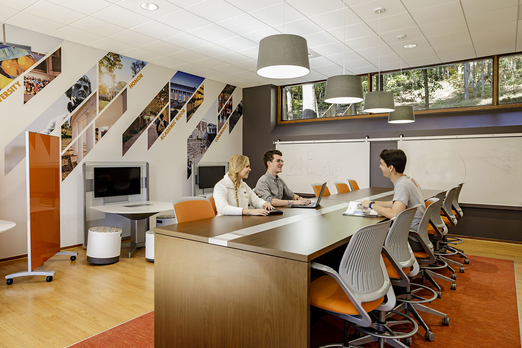 With a prominent location at a gateway to the University, the renovated Gooch-Dillard Hall sets a renewed first impression of student living at the University of Virginia.