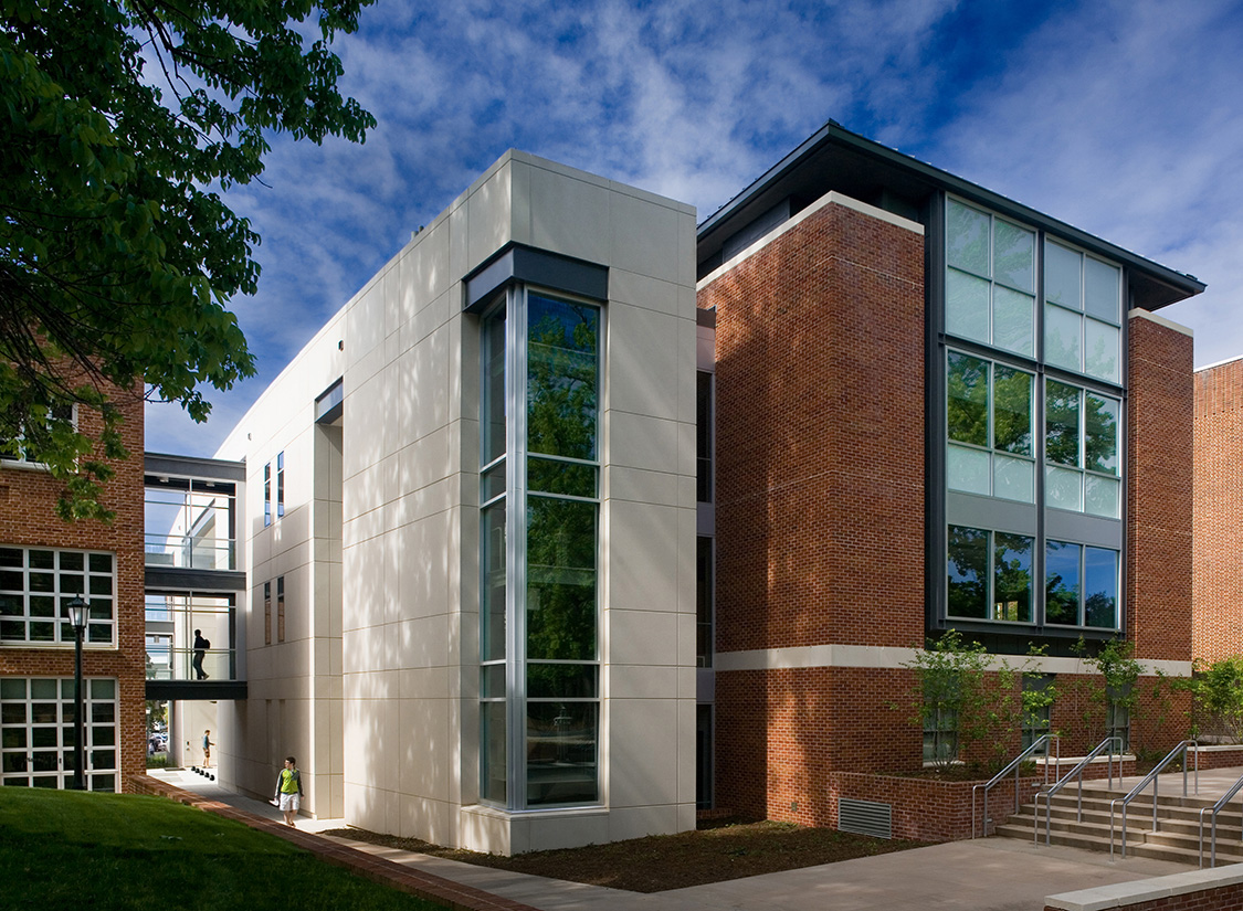 The building combines efforts of Materials Science, Chemical, Electrical and Computer Engineering and additional departments within the School of Engineering.