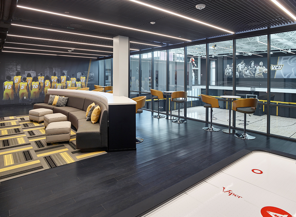 Virginia Commonwealth University Basketball Development Center Player Lounge